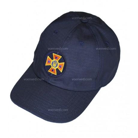 Бейсболка синяя с шевроном ДСНС Rip-stop