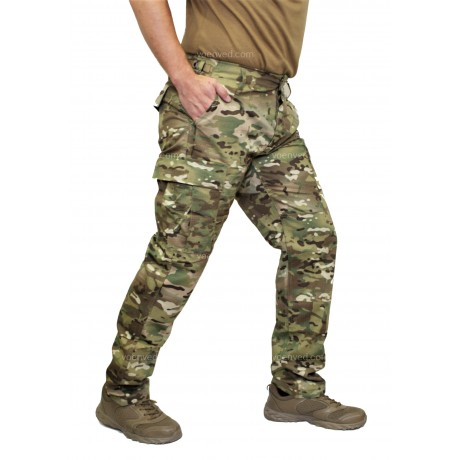 Брюки Mil-Tec BDU Slim Fit Multicam