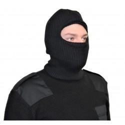 Балаклава зимняя вязанная черная