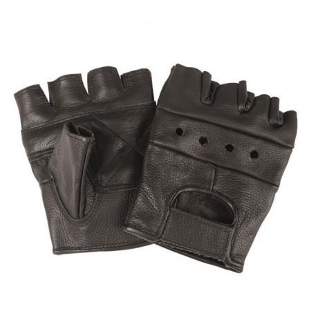 Перчатки Mil-tec кожаные беспалые Biker