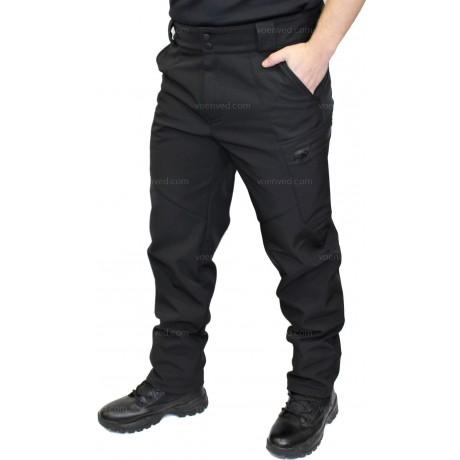 Брюки SoftShell Outdoor Black утепленные с флисовой подкладкой