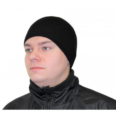 Шапка вязанная подкладка флис