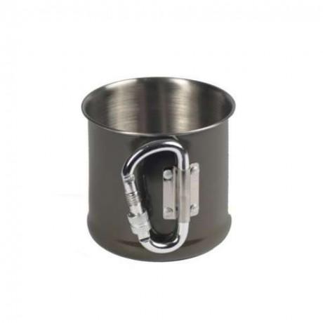 Кружка Mil-Tec стальная с карабином 250 мл