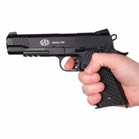Пистолет пневматический SAS M1911 Tactical
