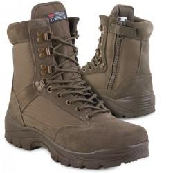 Ботинки Mil-tec с молнией YKK Brown