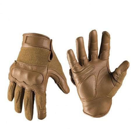 Перчатки Mil-tec кожа/кевлар Dark Coyote