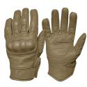 Перчатки Mil-Tec тактические кожаные с защитой Coyote