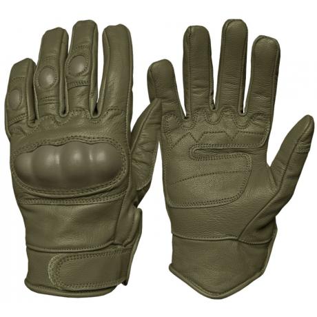 Перчатки Mil-Tec тактические кожаные с защитой Олива