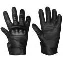 Перчатки Mil-Tec тактические кожаные с защитой Черные