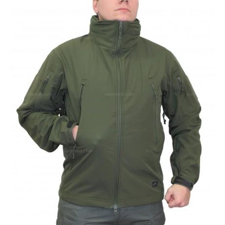 Куртка демисезонная Helikon Soft Shell Gunfighter Olive с мембраной