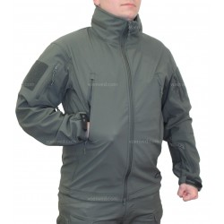 Куртка демисезонная Helikon Soft Shell Gunfighter Foliage Green с мембраной
