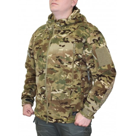 Куртка флисовая Helikon Patriot Double Fleece Multicam